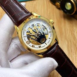 Vente chaude De Luxe Mens montres automatique mouvement mécanique Mens marque designer montre Bracelet en cuir en acier inoxydable Montre-bracelet pour cadeau ? partir de fabricateur