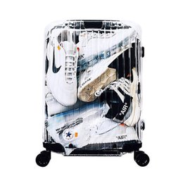 "24 maletas rodando online-Nueva maleta transparente, caja de embarque de 20 "", baúl de moda de 22/24/26 pulgadas, maletín de transporte para PC, maleta con ruedas, valija de moda"