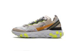 zapatillas marrones Rebajas (+ CAJA) Calidad superior A +++ Orewood Brown React Element 87 Undercover Running Shoes Mujer Hombre Diseñador Calzado deportivo Zapatillas de deporte