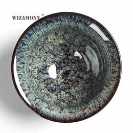 Bols chinois traditionnels en Ligne-HOT !!!! WIZAMONY New 1PCS Jingdezhen Ciel yeux thé rouge émail porcelaine chinoise traditionnelle Savoir-faire doux tasse de thé à thé Bowl T191024