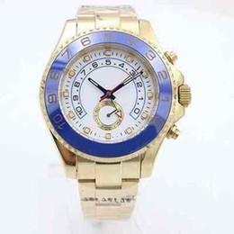 Azul de cerámica rosa online-Lujo 116688 Azul Cerámica Bisel de oro rosa Diseñador automático Deporte Hombres Relojes de pulsera Hombres Reloj Ginebra Reloj Maestro Relojes