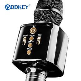 alto-falantes de karaoke Desconto Original Moda KM032 Bluetooth sem fio Condensador Magia microfone de karaokê Mobile Phone Jogador MIC Speaker música gravada
