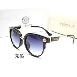 Runde verschriebenen brillen männer online-Versace Brille Frauen Männer Runde Ovale Brillen Transparent Klar Flache Linse Myopie Verschreibungspflichtige Rahmen