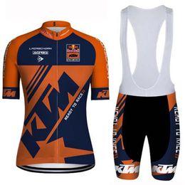 цены на велосипеды Скидка Велоспорт короткие рукава трикотажные изделия нагрудник/шорты костюм горячие продажа KTM команда лето мужчины велосипед одежда хорошее качество низкая цена Майо Ciclismo