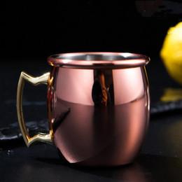 verres à liqueur en acier Promotion Nouveau Moscou mini verre 60 ml tasses à cocktail en acier inoxydable cocktail tasse Moscou mule tasse mini vin bière un petit verres à vin T2I5198