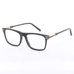 a7641509ff Cubojue Eyeglasses Frame Men Brand Eye Glasses Man s Degree Optical  Prescription Spectacles Full Rim Black Gold High Quality