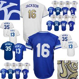 138d0828b Chinese TOP Kansas City Royals Baseball Jersey 35 Eric Hosmer 16 Bo Jackson  5 George Brett