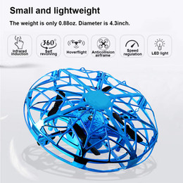 science gifts for children Promo Codes - Intelligent Induction UFO Mini Quadcopter Gesture Sensing Smart Flying Aircraft Helicopter Toy RC Drone For Children Kids Gifts Xmas