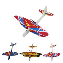 glow dark games Coupons - DIY USB Flying Glider Plane Glow In The Dark Toys Foam Airplane Model LED Flash Games Toys For Children