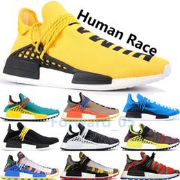2019 Ярко-белая раса человека Фаррелл Желтые виды Oreo Черные мужские дизайнерские туфли Oreo Бледные обнаженные кроссовки от