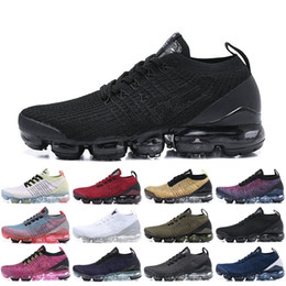 2019 Mens Laceless Multicolor Releasing Triple Nike Air Max Airmax Vapormax Vapor Flyknit Moc 2 Zapatillas Negras Para Mujer Moc 2.0 Sneakers