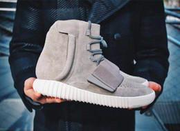 мужская повседневная обувь Скидка Kanye West 750 Boots Мужская тройная черная серая резинка с высокой лодыжкой Спортивная обувь Дизайнерская обувь Кроссовки для скейтборда Туфли повседневные модные ботинки EUR39-46