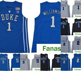 сплит спортивные майки Скидка 2019 мужская NCAA Duke Blue Devils Jersey 1 Zion Williamson 5 RJ Barrett 2 красноватый королевский синий черный белый колледж баскетбольные майки