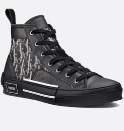 Botas negras de encaje online-Calzado mujer negro blanco lienzo oblicuo con textura zapatillas de deporte con cordones diseñador hombres flor carta imprimir dos tonos suela de goma zapatos casuales