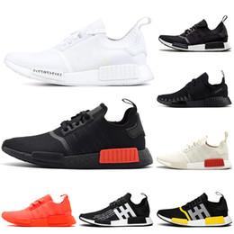 2019 r1 para barato Adidas NMD Boost MD R1 Descuento al por mayor Barato negro blanco Runner R1 rojo solar 2017 oreo Primeknit hombre zapatos para mujer zapatos de deporte de moda clásica Eur 36-45 r1 para barato baratos