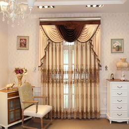 stringa di paglia all'ingrosso Sconti Tende in stile americano per soggiorno Tende dal pavimento al soffitto, solubili in acqua per mantovane ricamate in camera da letto