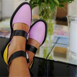 Più i talloni di stile di grandezza online-Summer Style Hollow Out Sandali Scarpe da donna in pelle morbida a punta Tacco alto Pompe da donna dolce Plus Size 34-43 Retro Shoes