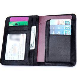 кошельки меняются Скидка Moxi Genuine Leather Men&women Business Passport Case Trendy Clutch Passport Cover Knitting Change Wallet Male Holder