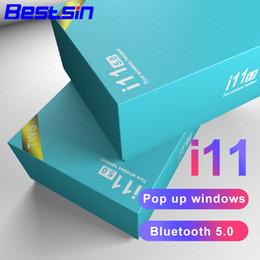 Вызов с гарнитуры онлайн-Bestsin Bluetooth Headset i11 TWS Biaural Call V5. 0 поддержка сенсорной функции с зарядным устройством для смартфона