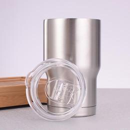 Personalizar tazas de café online-Los vasos de acero inoxidable 14OZ personalizaron las tazas de café de vino de vacío de aislamiento de doble pared con tapas deslizantes
