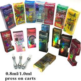 bateria de mod do arco-íris Desconto Vape Cartuchos Embalagem Caixa Holograma 0.8ml 1.0ml M6T Cartuchos Vazios Caneta Vaporizador 510 Linha Coil Sabores De Cerâmica Etiqueta