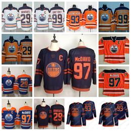 jersey de hockey marrón Rebajas 97 Connor McDavid engrasadores de Edmonton 2019-2020 tercer Jersey 29 Leon Draisaitl 93 Ryan Nugent-Hopkins 99 Wayne Gretzky 19 Patrick Maroon Hockey