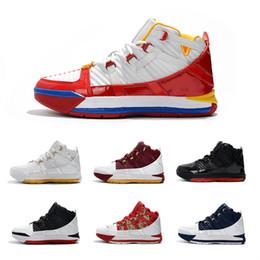 a55533d3 2019 Новое поступление # 23 Zoom III 3 Home SuperBron Мужские кроссовки для  баскетбола Лучшее качество Белый Синий Красный Черный Chaussures Спортивные  ...