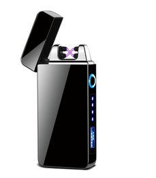 Encendedor de cigarrillos ambiental online-Cigarette Lighter USB recargable de carga Touch Sensing encendedor a prueba de viento electrónico ultra-delgado eléctrico de calentamiento del encendedor del Medio Ambiente