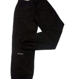 Pantalone donna ricamo online-19SS pantaloni di lusso Europa piccolo logo ricamo pantaloni neri moda di strada vendita calda uomini donne di alta qualità paio pantaloni semplici HFSSKZ077