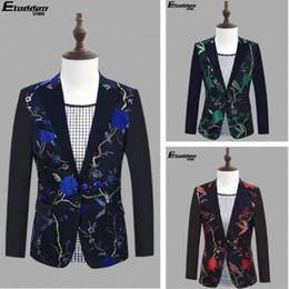 74241ff03 Ropa bordada trajes de hombre diseños masculino homme terno etapa cantantes  chaqueta de lentejuelas hombres chaqueta estilo de la estrella de baile  vestido ...