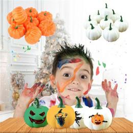 frutas falsas hortalizas decoracion Rebajas Simulación de Halloween Kid Juguete Calabaza artificial de la fruta vegetal fruta falso modelo de espuma de frutas Plato Casa Decoraciones del partido de cocina