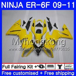 2019 ninja kawasaki carenados amarillo Cuerpo Amarillo claro caliente Para KAWASAKI NINJA 650R ER-6F ninja650 ER6F 09 10 11 252HM.13 Ninja650R ER6 F ER 6F 2009 2010 2011 Fairings Kit + 7Gifts rebajas ninja kawasaki carenados amarillo
