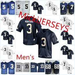 Maglia da calcio NCAA Notre Dame Fighting Irish Josh Adams C.J. Sanders Brandon Wimbush Mike McGlinchey Manti Teo Joe Montana Irish Jersey da
