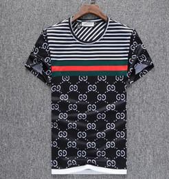 Estilo europeu polo on-line-Verão 18ss estilo Americano Europeia tag cobra impressão roupas homens tecido letra polo g t-shirt gola casual mulheres camiseta camiseta topos 998