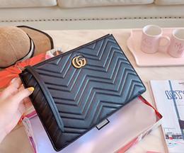 cartões de natal musicais Desconto Um couro real + bolsa designer mala bolsas de luxo Designer Clutch sacos de moda Saco Designers saco carteira mulheres Com a caixa