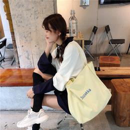 2019 borse delle ragazze adolescenti Borsa a tracolla per shopping bag da viaggio per adolescenti di grande capacità sconti borse delle ragazze adolescenti