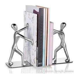 Kitaplık Ofis Aksesuarları Ofis Çalışması Dekorasyon Yaratıcı Kitap Tutucu İnsansı Şekil Kaymaz Sanat Danışma Organizatör SY0170 nereden qi mobil şarj cihazı tedarikçiler