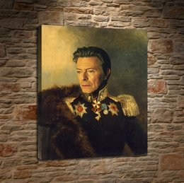 2019 pintura al óleo hierba David Bowie en uniforme, lienzo HD pintura para el hogar decoración de arte pintura (sin marco / enmarcado)