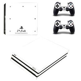 Pure white preto ps4 pro decalque adesivo de pele para sony ps4 playstation 4 pro console e 2 controladores adesivos pele vinil t6190615 de Fornecedores de capa de tubarão