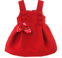 2018 Fashion Style Neonate Abiti Invernali Floreale Colore Rosso Cotone Abiti Per 1 E 2 Anni Bambina Abbigliamento Rkd185001 Y19061001 da