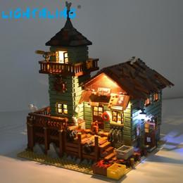 lojas de peixes Desconto Lighting led kit (apenas conjunto de luz) para o velho modelo de construção de loja de pesca compatível com 21310 y190606