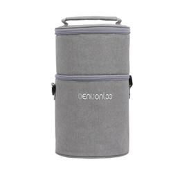 Señora de nylon genial online-Refrigerador aislado de picnic térmica del bolso del almuerzo de doble capa de viajes Carry Tote para mujeres que las señoras NoEnName_Null