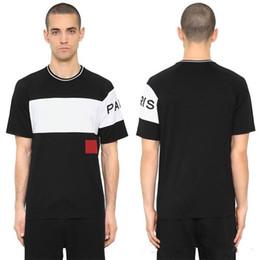 e08a99a4f5b5d 19ss Luxury Europe Paris Embroidery Contrast patchwork Tshirt Fashion Mens  Designer T Shirt Casual Men Clothes Cotton TeeGIV T-Shirt