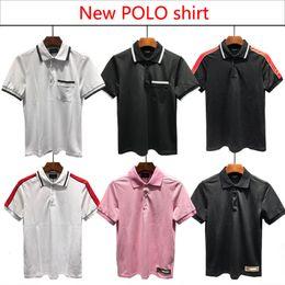 Корейские рубашки нового стиля онлайн-2018 новый корейский стиль поло мужские футболки мода повседневная Slim Fit высокого класса LPLO рубашка стиль Размер: M-XXXL