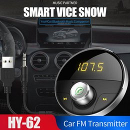 alto-falante bluetooth hy Desconto Bluetooth 5.0 HY-62 12-24V sem fio universal mãos-livres Bluetooth Transmissor TF Music Player de áudio estéreo com viva-voz