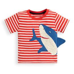dcb047abd214b Kidsalon Garçons T-shirt En Coton Enfant Vêtements Été 2019 Nouveau Casual  Garçons Hauts Bébé Requin Animaux Broderie Garçon T-shirts Vêtements D  enfants ...