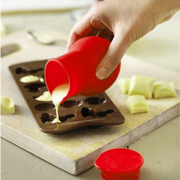 Potes de cozinha de qualidade on-line-Alta qualidade Silicone Chocolate Melting Pot Mold molho de manteiga de leite Baking Verter Cozinha Calor microondas utensílios de cozinha aparelhos de cozinha