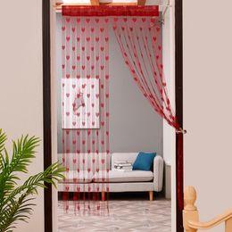 cortina estilos plissados Desconto Cortinas de Tule de coração Moderno Cortinas para Sala de estar Transparente Tule Cortinas Da Janela Sheer para sala de estar