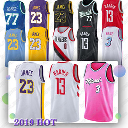 968973337073 États-Unis Arizona State College 13 Harden 23 James 3 Wade 0 Westbrook 33  Kobe High School Basketball Jersey