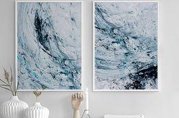 2019 abstrakte hände kunst gemälde Handgemalte Nordic Abstrakte Kunst Leinwand Poster Ölgemälde Wandkunst Leinwand Malerei Wandbilder Für Wohnzimmer Dekoration rabatt abstrakte hände kunst gemälde